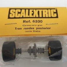Scalextric: LANCIA STRATOS TREN DE RUEDAS POSTERIOR CORONA GRIS REFERENCIA 6330 BLISTER. Lote 240868090