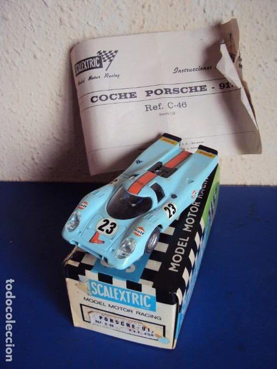 (JU-210241)PORSCHE -917. SCALEXTRIC EXIN. REF C-46 . CAJA ORIGINAL E INSTRUCCIONES (Juguetes - Slot Cars - Scalextric Exin)