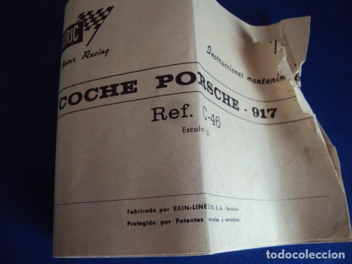 Scalextric: (JU-210241)PORSCHE -917. SCALEXTRIC EXIN. REF C-46 . CAJA ORIGINAL E INSTRUCCIONES - Foto 6 - 241080660