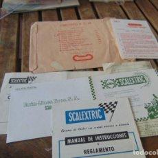 Scalextric: SOBRE CON DOCUMENTACIÓN DE EL CIRCUITO R. C. 28 ,EL DE LOS PORSCHE CARRERA. Lote 241955685