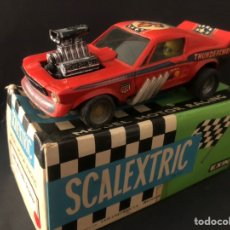 Scalextric: COCHE SCALEXTRIC CON CAJA FORD MUSTANG DRAGSTER ROJO REF 4049 TODO ORIGINAL EXIN TAL CUAL SE VE. Lote 245199170