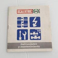 Scalextric: INSTRUCCIONES Y MANTENIMIENTO FOLLETO SCALEXTRIC EXIN LIBRITO. Lote 247532610
