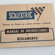 Scalextric: MANUAL DE INSTRUCCIONES Y REGLAMENTO FOLLETO ORIGINAL DE EXIN. Lote 247533285