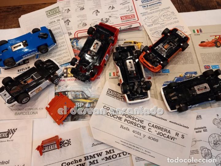Scalextric: SCALEXTRIC EXIN. Lote desguace con varios coches y documentación. VER FOTOS - Foto 8 - 253474660