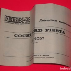 Scalextric: INSTRUCCIONES MANTENIMIENTO FORD FIESTA SCALEXTRIC EXIN. Lote 253560910