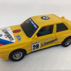 Scalextric: COCHE SCALEXTRIC EXIN BMW M3 AMARILLO SCHWEPPES SIN MOTOR TAL CUAL SE VE. Lote 260713230