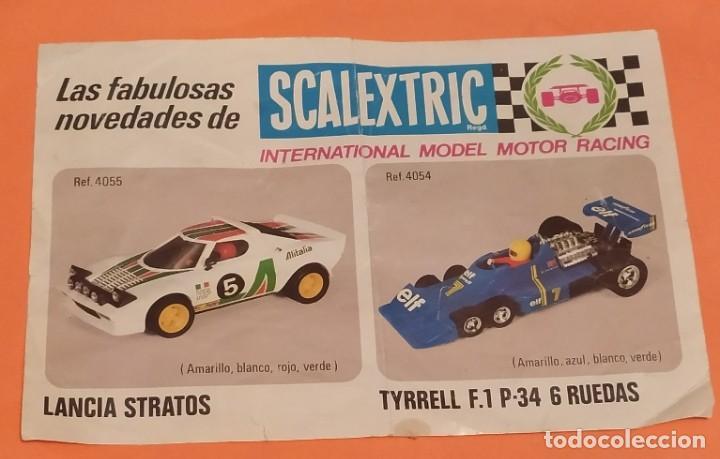 HOJA DE NOVEDADES SCALEXTRIC LANCIA STRATOS Y TYRREL AÑOS 70 (Juguetes - Slot Cars - Scalextric Exin)