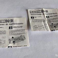 Scalextric: SCALEXTRIC EXIN , LOTE DE 2 INSTRUCCIONES DE MANTENIMIENTO. Lote 266422858