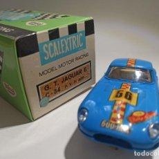 Scalextric: SCALEXTRIC CHASIS Y CARROCERIA JAGUAR E GT C-34 EN SU CAJA ORIGINAL. Lote 268895479