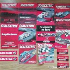 Scalextric: SCALEXTRIC LOTE DE 10 CATALOGOS Y 5 PEGATINAS AÑOS 2007 2008 2009 2010. Lote 269696573