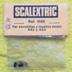 Scalextric: PAR ESCOBILLAS Y MUELLES MOTOR RX2 Y RX3 - SCALEXTRIC, EXIN - EN SU BOLSA ORIGINAL, NUEVO - PJRB. Lote 280725238