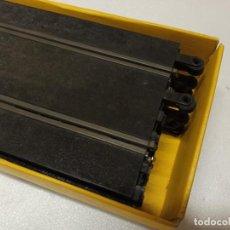Scalextric: LOTE 8 RECTA PT-80 SCALEXTRIC AÑOS 70 EN CAJA AMARILLA. Lote 295950288