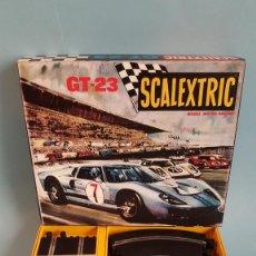 Scalextric: SCALEXTRIC GT-23 EN MINIATURA ESCALA 1/3 FORD GT BLANCO Y AZUL. Lote 296609093