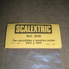 Scalextric: SCALEXTRIC REF.5162 PAR ESCOBILLAS Y MUELLES MOTOR RX2 Y RX3. Lote 27136552