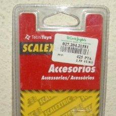 Scalextric: TRES GUÍAS PORTATRENCILLAS DE SCALEXTRIC,A ESTRENAR. Lote 119639027