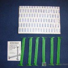 Scalextric: SCALEXTRIC EXIN - CAJA CON 6 SOPORTES ELEVACION PISTA - REF. 8526 - COMO NUEVO. Lote 236800150