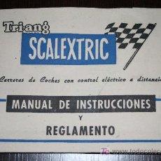 Scalextric: MANUAL DE INSTRUCCIONES Y REGLAMENTO TRIANG SCALEXTRIC (AÑOS 70). Lote 17837251