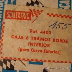 Scalextric: SCALEXTRIC EXIN TRIANG ACCESORIOS ORIGINALES - CAJA 6 TRAMOS BORDE INTERIOR CURVA EXT. Lote 26733167