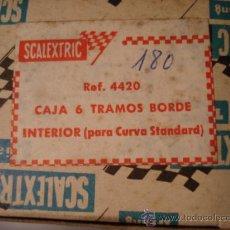 Scalextric: SCALEXTRIC EXIN TRIANG ACCESORIOS ORIGINALES - CAJA 6 TRAMOS BORDE INTERIOR CURVA STD. Lote 131914366