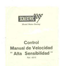 Scalextric: SCALEXTRIC CONTROL MANUAL DE VELOCIDAD ALTA SENSIBILIDAD. Lote 42564515