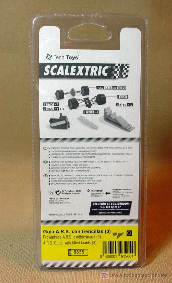 Scalextric: GUIA ARS CON TRENCILLAS, ORIGINAL SCALEXTRIC, REFERENCIA 8835 - Foto 2 - 16394414