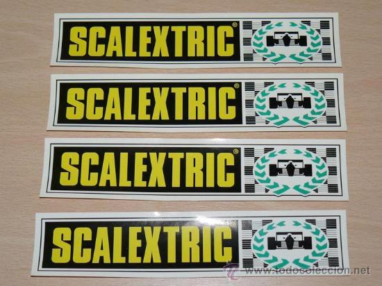 LOTE 4 ADHESIVOS PEGATINAS STICKERS EXIN SCALEXTRIC SLOT (Juguetes - Slot Cars - Scalextric Pistas y Accesorios)