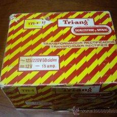 Scalextric: SCALEXTRIC TRANSFORMADOR RECTIFICADOR TRIANG. Lote 31268593