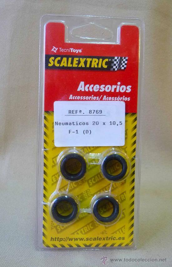 NEUMATICOS, ORIGINAL SCALEXTRIC, TIPO 3, 20 X 10, 5 MM, REF: 8769 (Juguetes - Slot Cars - Scalextric Pistas y Accesorios)