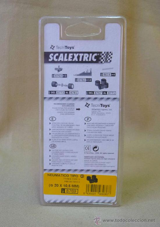 Scalextric: NEUMATICOS, ORIGINAL SCALEXTRIC, TIPO 3, 20 X 10, 5 mm, REF: 8769 - Foto 3 - 24196850