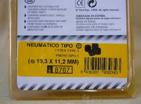 Scalextric: NEUMATICOS, ORIGINAL SCALEXTRIC, TIPO 1, 19,3 X 11, 2 CM, mm, REF: 8767 - Foto 2 - 24196624