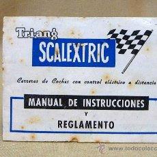 Scalextric: GUIA, MANUAL DE INSTRUCCIONES Y REGLAMENTO, SCALEXTRIC, TRI-ANG. Lote 24444971