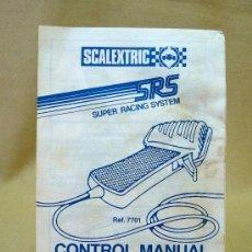 Scalextric: CONTROL MANUAL DE VELOCIDAD, SCALEXTRIC, REF 7701, INSTRUCCIONES DE USO. Lote 24446533