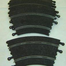 Scalextric: LOTE 6 CURVAS STANDARD SCALEXTRIC EXIN- REF.PT/51 MEDIDAS 28*15,5 CMS. - USADAS AÑOS 1970S. Lote 26954553