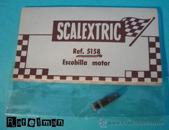 SCALEXTRIC EXIN ORIGINAL - REF. 5158 ESCOBILLA MOTOR ANTIGUO - BOLSA C-10 (Juguetes - Slot Cars - Scalextric Pistas y Accesorios)