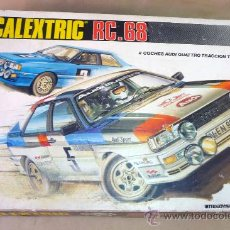 Scalextric: SLOT CAR, CAJA RC 68, SCALEXTRIC, 2 AUDI QUATTRO, TRACCION TOTAL. Lote 27827215
