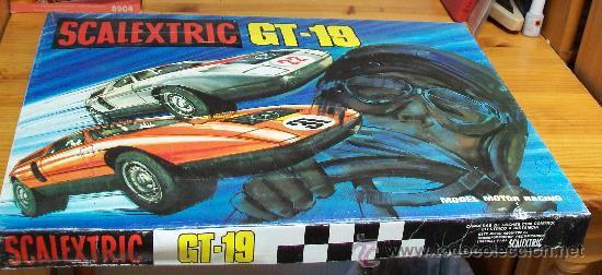 SCALEXTRIC CAJA GT. 19 DE EXIN. COMPLETO, 1975 (Juguetes - Slot Cars - Scalextric Pistas y Accesorios)