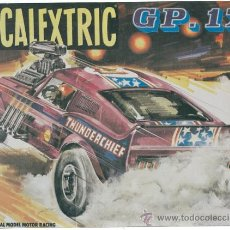 Scalextric: CUADRO DECORACION EN MADERA. CAJA SCALEXTRIC AÑOS 70´S. GP.17. MUSTANG DRAGSTER. Lote 29611085