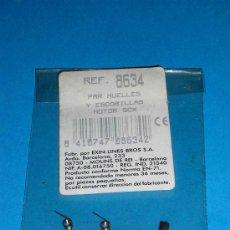 Scalextric: PAR DE MUELLES Y ESCOBILLAS PARA MOTOR CERRADO RX2 Y RX3 REF. 8634, SCALEXTRIC EXÍN. A ESTRENAR.. Lote 70119449