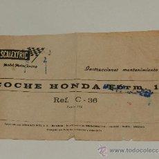 Scalextric: (M-ALB2) SCALEXTRIC - COCHE HONDA FORM.1 REF C-36, CON ROTURITAS Y PINTADO. Lote 37564297