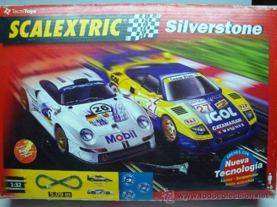 SCALEXTRIC CAJA COMPLETA SILVERSTONE (Juguetes - Slot Cars - Scalextric Pistas y Accesorios)