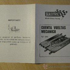 Scalextric: SCALEXTRIC. HOJA DE INSTRUCCIONES. CUENTA VUELTAS MECANICO. REF. 3259. EXIN.. Lote 34504452
