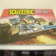 Scalextric: LÁMINA DIBUJO CAJA SCALEXTRIC EXIN CIRCUITO GP-51 AÑO 1974. Lote 34640367