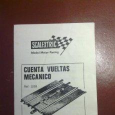 Scalextric: SCALEXTRIC. INSTRUCCIONES.CUENTA VUELTAS MECANICO.REF.3259.. Lote 34706547