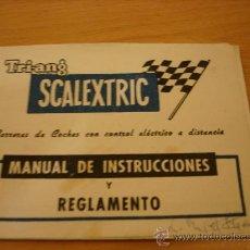 Scalextric: SCALEXTRIC EXIN MANUAL DE INSTRUCCIONES Y REGLAMENTO. Lote 35426728