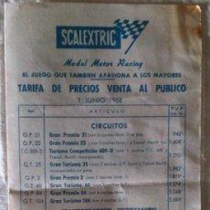 Scalextric: TARIFA DE PRECIOS SCALEXTRIC EXIN - 1 JUNIO 1968. Lote 35879160
