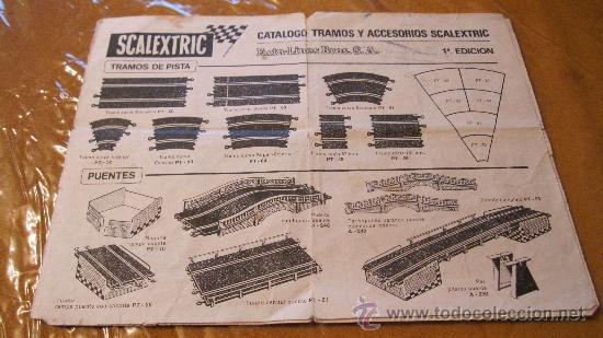 """SCALEXTRIC EXIN ORIGINAL: CATALOGO TRAMOS Y ACCESORIOS """"""""""""""""""""""""PRIMERA (1ª) EDICION"""""""""""""""""""""""" (Juguetes - Slot Cars - Scalextric Pistas y Accesorios)"""