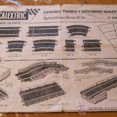 """Scalextric: SCALEXTRIC EXIN ORIGINAL: CATALOGO TRAMOS Y ACCESORIOS """"""""""""""""""""""""PRIMERA (1ª) EDICION"""""""""""""""""""""""". Lote 36258860"""