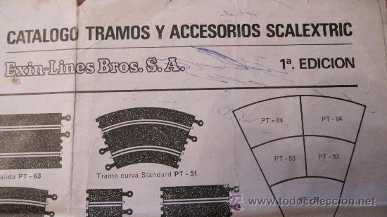 """Scalextric: SCALEXTRIC EXIN ORIGINAL: CATALOGO TRAMOS Y ACCESORIOS """"""""""""""""""""""""PRIMERA (1ª) EDICION"""""""""""""""""""""""" - Foto 2 - 36258860"""