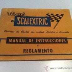 Scalextric: SCALEXTRIC EXIN. TRIANG. MANUAL DE INSTRUCCIONES Y REGLAMENTO. Lote 36857745