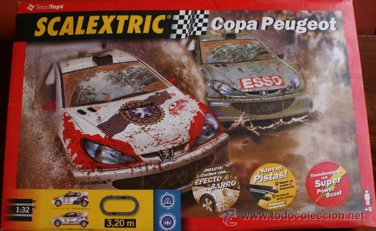SCALEXTRIC COPA PEUGEOT EN SU CAJA ORIGINAL EN DE FUNCIONAMIENTO (Juguetes - Slot Cars - Scalextric Pistas y Accesorios)